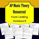 AP Music Theory - Voice Leading Homework Bundle