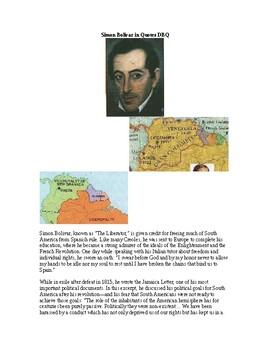 AP Nationalism: Simon Bolivar in Quotes DBQ