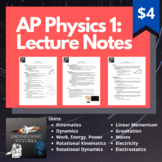 AP Physics 1 Lecture Notes (Entire Year)