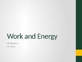 AP Physics 1 - Mechanical Energy (Work & Energy) - Class Notes
