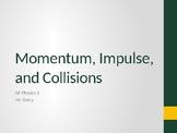AP Physics 1 - Momentum/Impulse/Collision - Class Notes