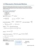AP Physics 1 One dimensional horizontal kinematics (set 01