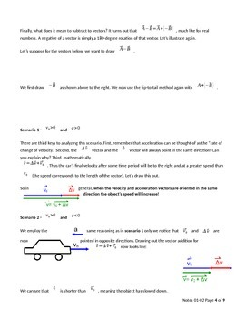 AP Physics 1 - One dimensional kinematics - horizontal motion (student version)