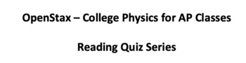 AP Physics 1 OpenStax Chapter 2.1-3 Reading Quiz