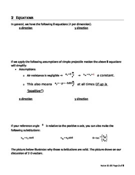 AP Physics 1 - Projectile Motion Student Version (Set 0105)