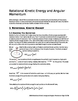 AP Physics 1 - Rotational Kinetic Energy and Angular Momentum (teacher version)