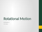 AP Physics 1 - Rotational Motion - Class Notes