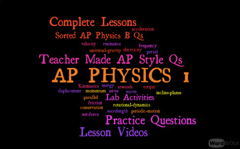 AP Physics 1 - Types of Energy, Total Energy, and W = Change of Energy