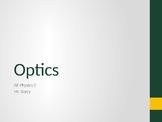 AP Physics 2 - Geometric Optics - Class Notes
