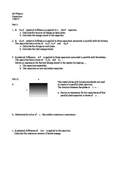 AP Physics Capacitance Worksheet