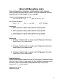 AP Physics - Kinematic Equations Intro Activity