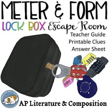 AP Poetic Meter & Form Breakout Box Game