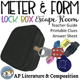 AP Poetic Meter & Form Lock Box Escape Room Game