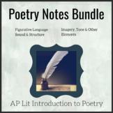 AP Poetry Notes Bundle - AP Lit / Advanced Poetry