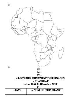 AP Project on Francophone Africa