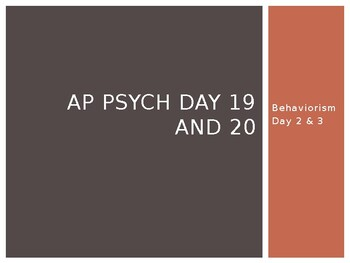 AP Psych Day 19 and 20 slides