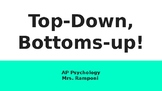 AP Psych - Introduction to Sensation: Top-Down/Bottom Up L