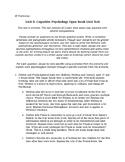 AP Psych Unit 5: Cognitive Psych Open Book Unit Test