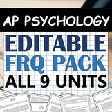 AP Psychology / AP Psych Free-Response Question - FRQ - Super Pack!