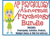 AP Psychology Abnormal Disorders Unit BUNDLE PowerPoint Activities Projects Test