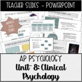 AP Psychology, Abnormal Psych & Treatment Unit Powerpoint Presentations