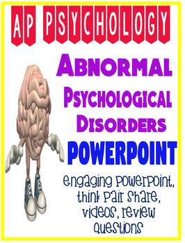 AP Psychology Abnormal Psychological Disorders PowerPoint *updated  with DSM 5