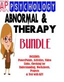 AP Psychology Abnormal & Therapy Unit BUNDLE activities, p