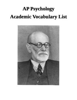 AP Psychology Academic Vocabulary Term List Sorted by Chapter