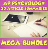 AP Psychology Article Summary MEGA Bundle
