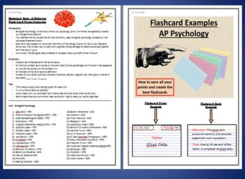 AP Psychology - Biological Bases of Behavior, Best Flashcard Assignments