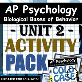 AP Psychology - Unit 2: Biological Bases of Behavior - Experiment Activity Pack!