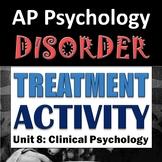AP Psychology - Celebrity Disorder Treatment Classroom Activity - Unit 8