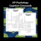AP Psychology Cognition Crossword Puzzle 2-Pack