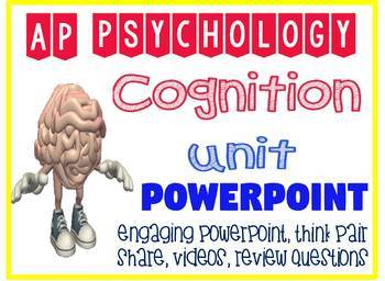 AP Psychology Cognition Thinking & Language Engaging Fun Powerpoint Activities