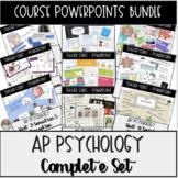 AP Psychology Complete Course Set of Powerpoint Slides Bundle