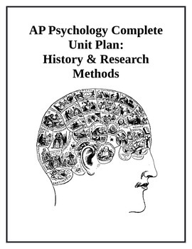 AP Psychology Complete Unit Plan History and Research Methods