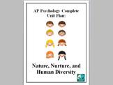 AP Psychology Complete Unit Plan Nature Nurture and Human Diversity