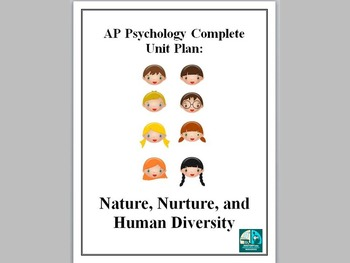 AP Psychology Complete Unit Plan Nature Nurture and Human Diversity