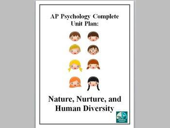AP Psychology Complete Unit Plan Nature Nurture and Human