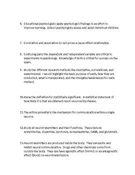 AP Psychology Confusing Concepts