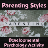 AP Psychology- Developmental Psychology Parenting Styles Scenarios/Worksheet