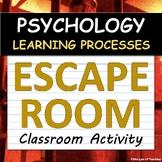 AP Psychology ESCAPE ROOM! Classroom Activity - Unit 4 - Learning