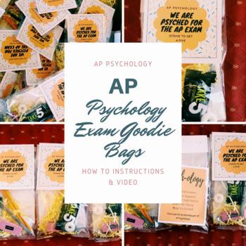 AP Psychology Exam Goodie Bag (How to Create, Step By Step)