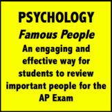 AP Psychology Exam People Review