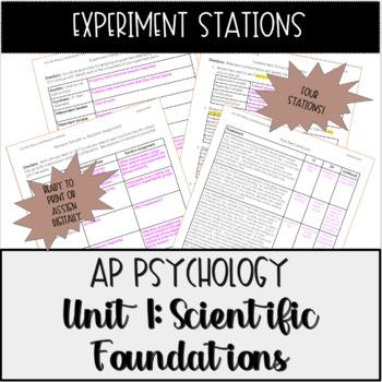 AP Psychology Experiment Stations