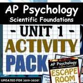 AP Psychology - Unit 1: Scientific Foundations of Psychology - Activity Pack!