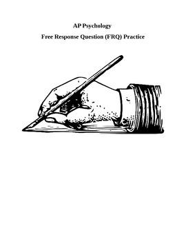 AP Psychology FRQ & Scoring Guide: Motivation, Arousal, Le