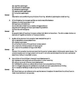AP Psychology Full-Length Practice Exam 1