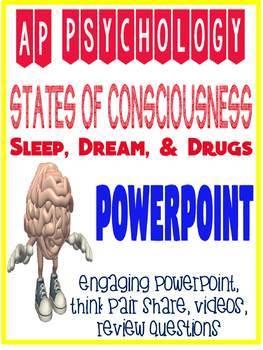 AP Psychology Fun Consciousness Unit Hypnosis, Dreams, Drugs, Sleep  Powerpoint