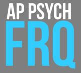 AP Psychology FRQ Template with SODAS header